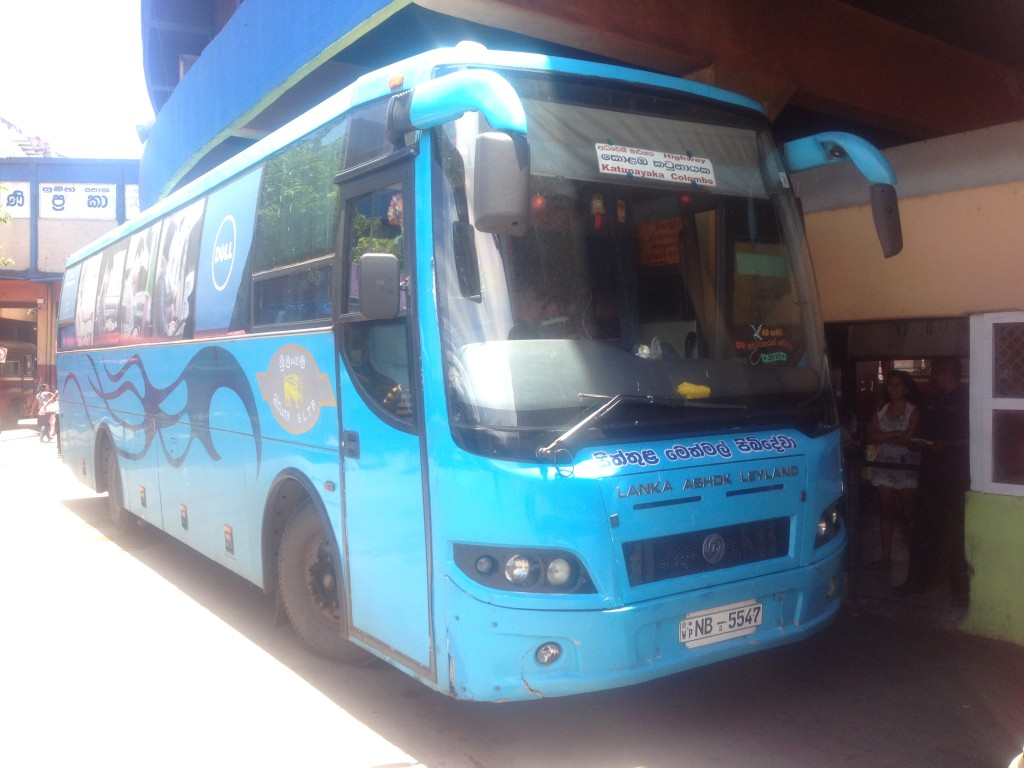 Sri Lanka express airport bus number 187