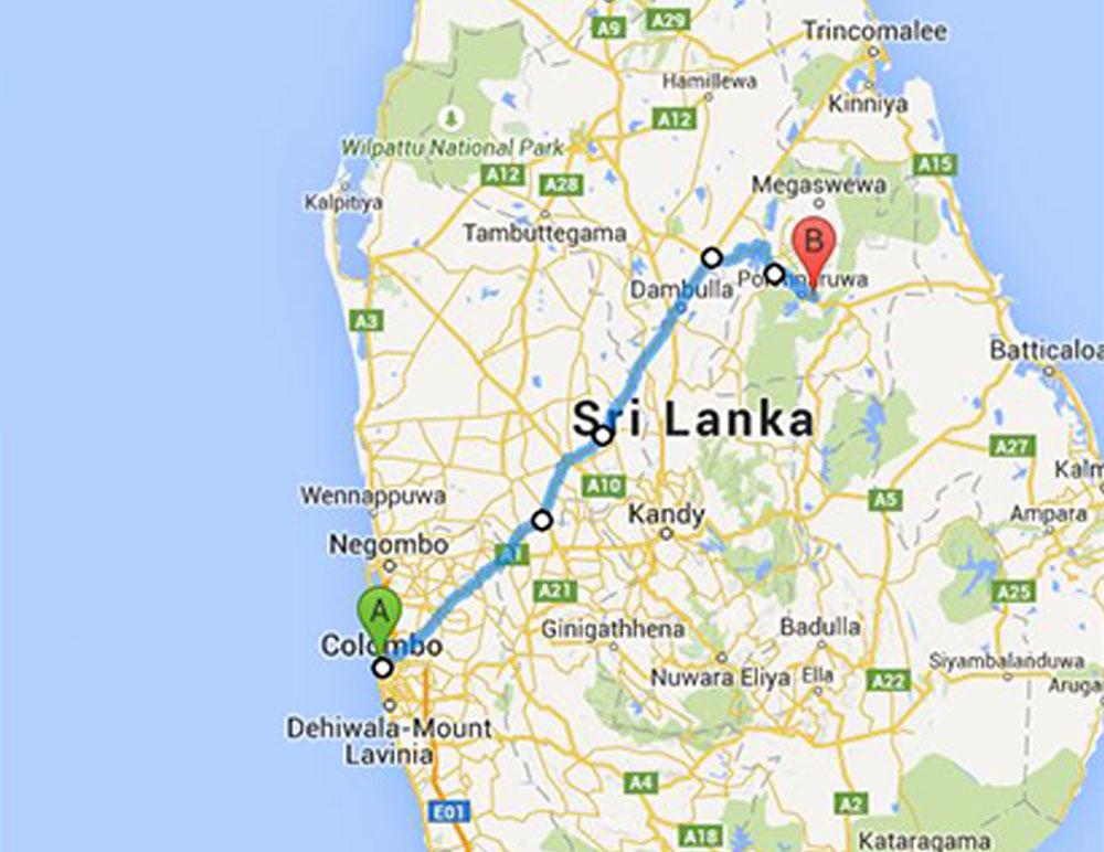 Sri Lanka Bus Route 48 3 From Colombo To Kaduruwela
